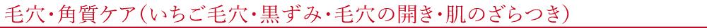 毛穴・角質ケア(いちご毛穴・黒ずみ・毛穴の開き・肌のざらつき)